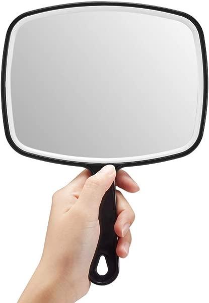 OMIRO Hand Mirror Black Handheld Mirror With Handle 6 3 W X 9 6 L