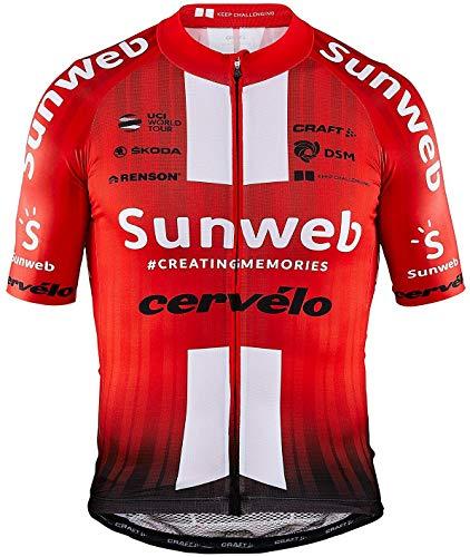 Craft Team Sunweb Replica Kurzarm Trikot Herren White/sunweb red Größe 3XL 2020 Radtrikot kurzärmlig