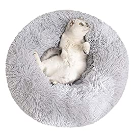 Aiboria Warm Pet Bed Round Plush Bed for Small Dogs and Cats,Warm Cuddler Kennel Soft Puppy Sofa Cat Cushion,Anti-Slip & Machine Washable