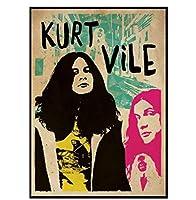 KurtVileミュージックウォールアートキャンバス絵画リビングルーム家の装飾壁の装飾(60X80Cm)-24x32インチフレームなし