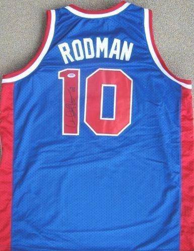 Dennis Rodman Signed Detroit Pistons Auth Jersey PSA - Autographed NBA Jerseys