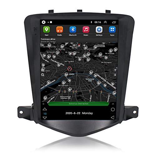 ADMLZQQ Android10 Doppio DIN Navigazione GPS Autoradio per Chevrolet Cruze 2008-2013 (Vertical Screen) Bluetooth Radio FM Comandi al Volante+Telecamera di Retromarcia(Gift),WiFi,1+16G