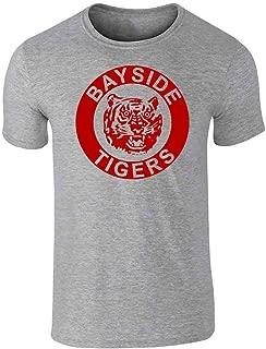 Bayside Tigers 90s Retro Halloween Costume Graphic Tee T-Shirt for Men