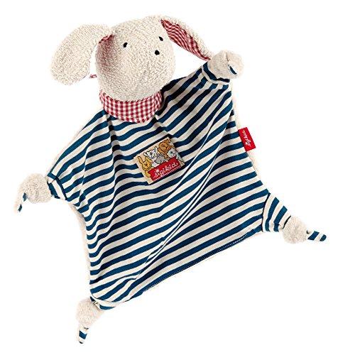 sigikid, Mädchen und Jungen, Schnuffeltuch Hund, Blau/Weiß, 45580