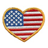 Tactical Heart USA Patch-Red White & Blue