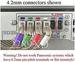 6 Speaker Wires/Cables/Cords for Select Panasonic Home Theater System or Sound Bar; 6 PCs; Total 86ft; 4.2mm Connector (Plug); 18 AWG Wire;
