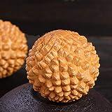 Pallamano di Salute, Natural Cypress Carving Handle Ball, Palla da Massaggio per Esercizi, Dare agli Anziani(con Confezione Regalo)