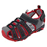 KONFA Teen Toddler Baby Boys Girls Closed-Toe Beach Sandals,for 1-9 Years old,Kids Anti-Slip Sandal Summer Shoes (Red, 1-1.5 Year old)