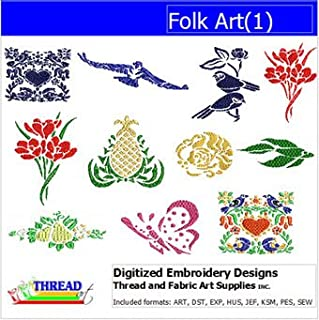 folk art machine embroidery designs