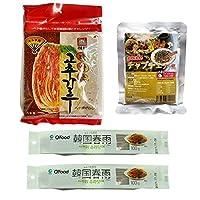 ヘテ 唐がらし キムチ用(粉) 100g +Chung Jung Oneチャップチェの麺(100g) x 2個+ソンちゃんチャプチェの素(130g)x 1個 韓国食品 韓国料理 韓国ラーメン