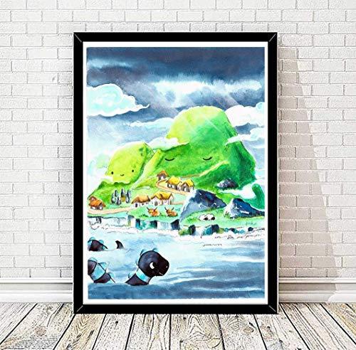 TinyTami ★ Aquarell Kunstdruck Schottland ★Highlands of Scotland★ DINA A4 oder A3 - Kinderbild