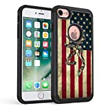 iPhone 7 Case, iPhone 8 Case,Rossy Camo American Flag Design Shock-Absorption Dual Layer Hybrid Armor Defender Protective Case Cover for Apple iPhone 7 (2016) / iPhone 8 (2017)