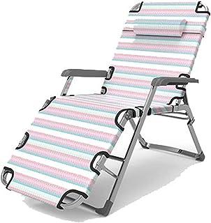 Lit Pliant Simple Lit de Camp Simple Accueil Lits d'accompagnement Adulte en Plein air Chaise Portable Bureau Sieste Lit P...