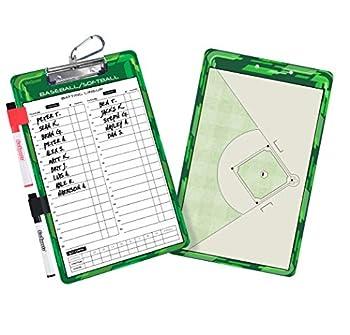 GoSports Baseball / Softball Dry Erase Coaches Board with 2 Dry Erase Pens