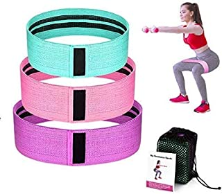 Resistance Bands for Legs and Butt,Exercise Bands Hip Bands Wide Booty Bands Workout Bands Sports Fitness Bands Stretch Re...