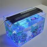 Iluminación LED para acuario, multicolor, 45 LED, regulable, con soporte ajustable, para acuario de 40 cm a 55 cm