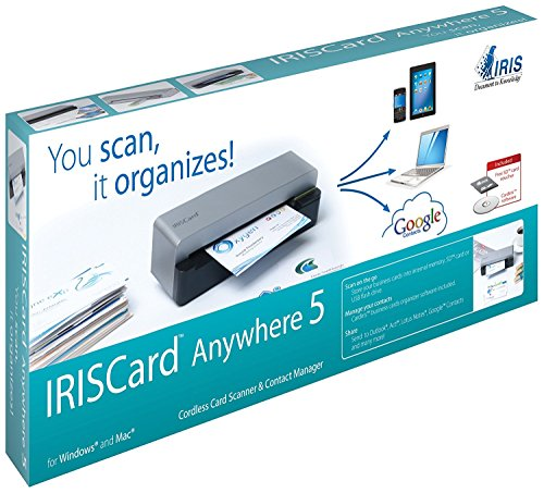 Best Review Of 2PC3940 – I.R.I.S IRISCard Anywhere 5 Card Scanner – 300 dpi Optical