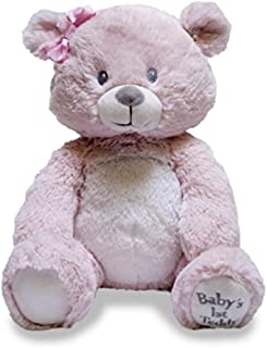"Cuddle Barn Baby's First Teddy Lullaby Animated Singing Teddy Bear, 10"" (Pink)"