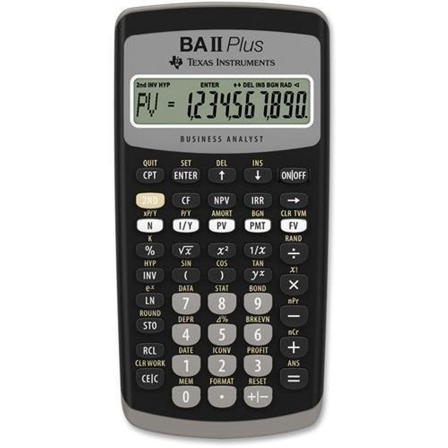 舌なモール不変Texas Instruments BA-II Plus アドバンス金融電卓