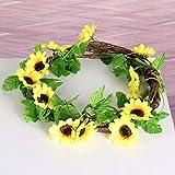 Vine Silk Rattan Für Hochzeitsfest-hauptdekor-weiß 1pcs 8.5ft Künstliche Sonnenblume Garland Wand Rattan Hänge