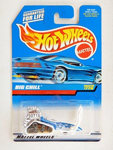 Hot Wheels Big Chill 1:64, color azul y blanco