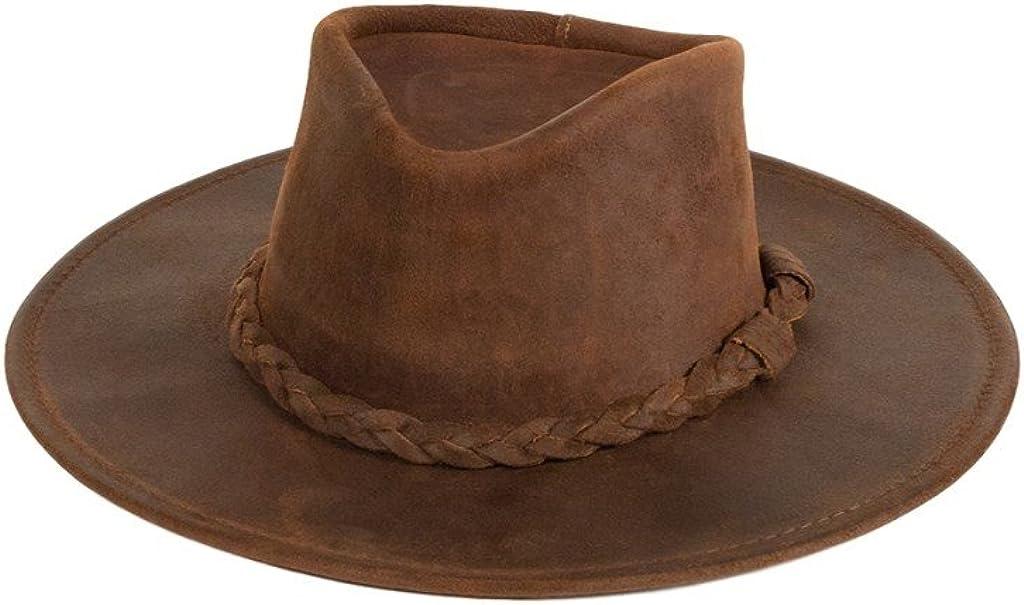 Popular product depot Minnetonka Men's Leather Hat Outback