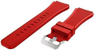 For Samsung Galaxy Watch 46mm SM-R800 - Premium Silicone Smartwatch Band - Red