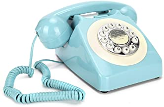$75 » eboxer-1 Rotary Design Retro Landline Phone for Home, Rotary Dial Telephone, Old Fashioned Desk Telephone, Corded Telephon...