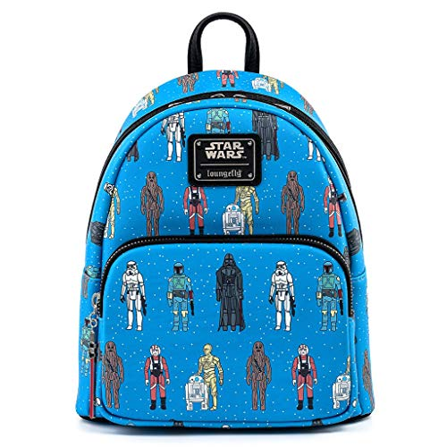 Loungefly Star Wars Action Figures Print Faux Leather Womens Double Strap Shoulder Bag Purse