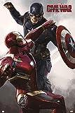 Close Up Captain America Poster Civil War Iron Man &