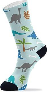 Calcetines altos para el tobillo con diseño de dinosaurios y animales, para hombres y mujeres, 1 pack