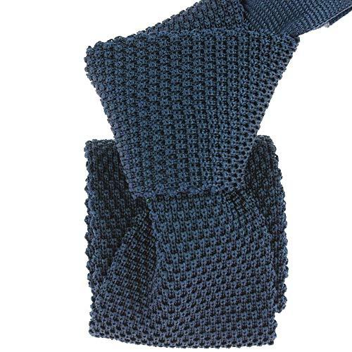 Tony & Paul - Cravate Tricot Navy, Soie