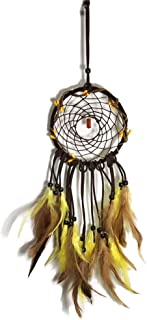 Josairy Yellow Dream Catcher Special Ornament Wall Decorating Hand-Craft Dream Catcher (Natural Yellow)