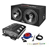 Audiopipe APSB-1299PP Loaded Dual 12 Subs Amp and Wire Kit Car Audio Package