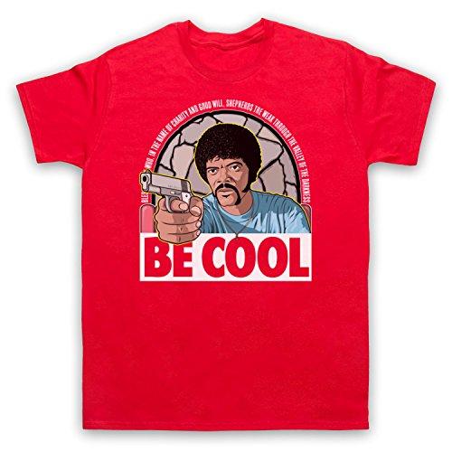 Inspirado por Pulp Fiction Jules Be Cool No Oficial Camiseta para Hombre, Rojo, 5XL