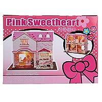 家の組み立てモデル、木製40x27.5x32cm 40x27.5x32cmおかしい女の子の手工芸品DIY家のおもちゃ、コレクションおもちゃギフトホームディスプレイギフト贈与