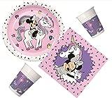 Procos 10133061 - Kit de Fiesta para cumpleaños Infantil (tamaño pequeño), diseño de Minnie Mouse y Unicornio, Multicolor