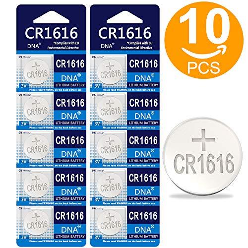 DNA CR1616 - Lote de 10 Pilas de botón (Litio, 3 V)
