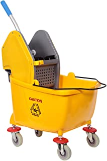 Moonlight Mop Bucket with Wheel and Wringer - 25 Liters, Yellow