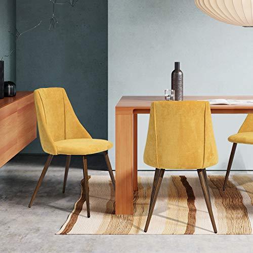 FurnitureR Juego de 2 sillas de comedor de cocina, ensamble los 2 en 5 minutos, sillas laterales…