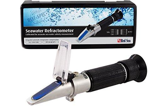 レッドシー シーウォーターリフレクトメーター 高精度、海水専用塩分濃度屈折計