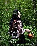 Alas de la Polilla capa corta disfraz de hada pañuelo chal traje de mariposa para halloween