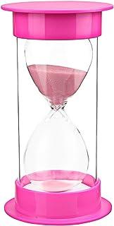 Toirxarn Sand Timer Colorful 5 Min 10 Min 15 Min 30 Min 45 Min 60 Min, Kid's Classroom Hourglass, Office Sandglass, Kitchen Sand Clock -60 Minutes Pink