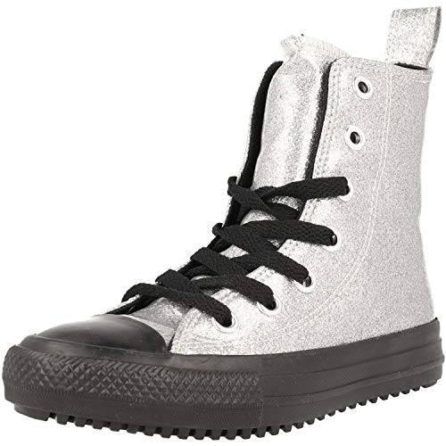 Converse Sneaker All Star Boot -x-hi Silber Madchen - 33 EU