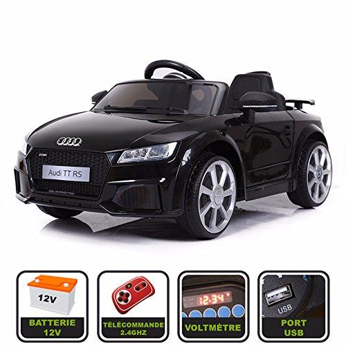 Cristom Voiture de Sport électrique 12V pour Enfant Audi TT RS Télécommande 2.4Ghz- Slot USB et...