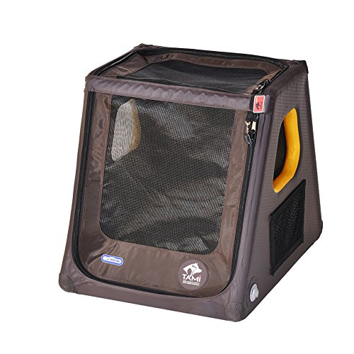 SUPwave Tami - Hundetransportbox aufblasbar Tragebox Transportbox Hundebox Reisebox Autotransportbox Kofferraumbox Gitterbox Käfig Hund Box Dogbox Inflatable inkl. Dog-Vital Bio-Hundekeks (S)