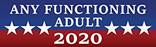 Artisan Owl Any Functioning Adult 2020 - Funny Auto Car Politics Election 3x10 Magnet (1 Magnet)