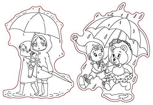 Vriendschap liefde regenachtige dag met u stempels Rubber duidelijke stempel/Seal Scrapbook/foto decoratieve kaart maken duidelijk stempel
