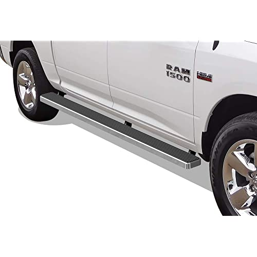 APS Wheel to Wheel Running Boards 5 inches Custom Fit 2009-2018 Ram 1500 Crew Cab Pickup 5.5ft Short Bed & 2010-2020 Ram 2500 3500 (09-12 Drilling Required) (Nerf Bars Side Steps Side Bars)