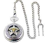 Taschenuhr mit Sprungdeckel und Kette Lone Star Texas Longhorn in Geschenkverpackung Western Cowboy